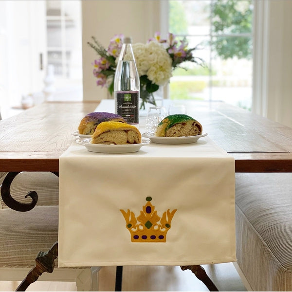 Mardi Gras Ivory Table Runner