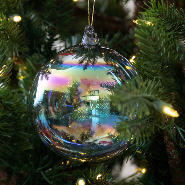 Iridescent Glass Ornament