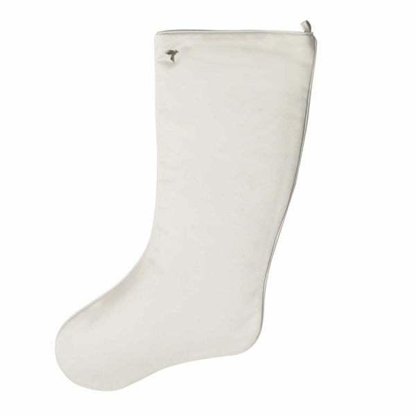Ivory White Christmas Stocking