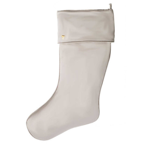 Light Gray Christmas Stocking