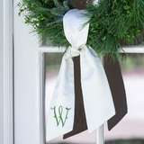 Monogram Wreath Sash