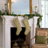 Green and Gold Fortuny Christmas Stockings