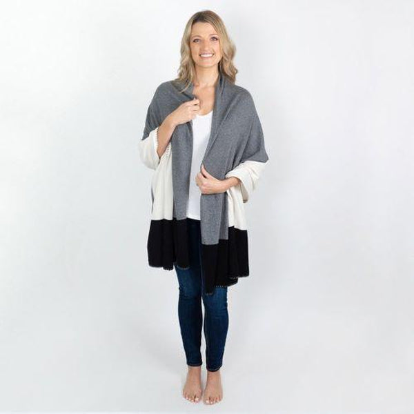 Gray Colorblock Organic Cotton Dreamsoft Wrap