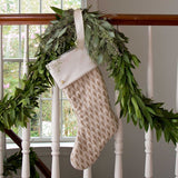 Ivory and Gold Christmas Stockings with Cuff