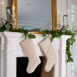 Fortuny Piumette Ivory and Gold Christmas Stockings