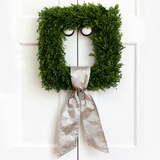 Silver Grain Wreath Sash