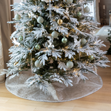 Silver Spot Christmas Tree Skirt
