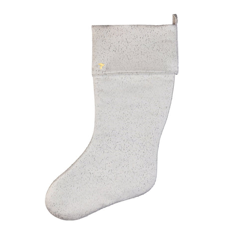 Silver Speckled Stocking with Cuff