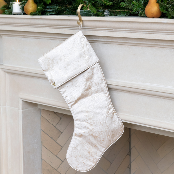 Gold Grain Christmas Stocking with Cuff