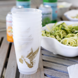 Fig & Dove signature frosted plastic cups