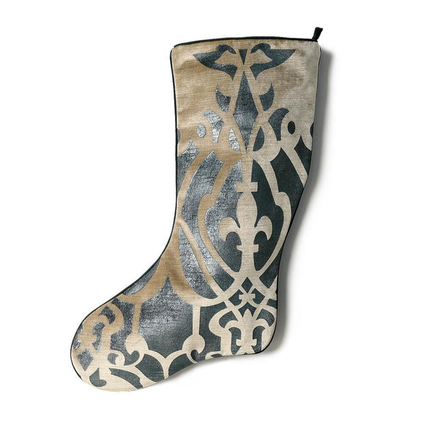 Vienna Green Velvet Christmas Stocking