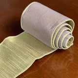 Velvet Metallic Double-Sided Ribbon
