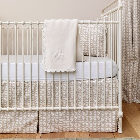 Dove Fabric Crib Skirt