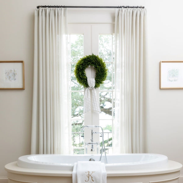 Showhouse Bathroom Drapes