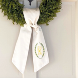Monogrammed Laurel Wreath Sash