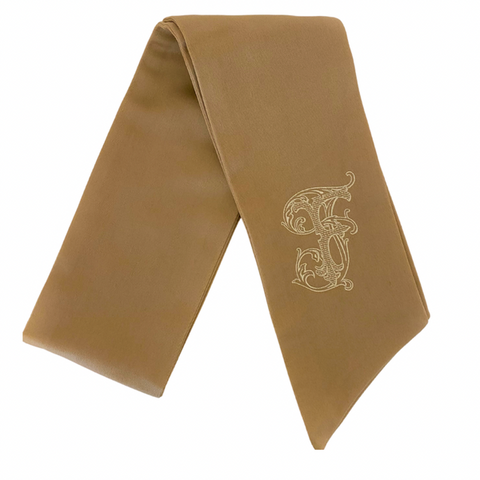 Gold Monogrammed Wreath Sash
