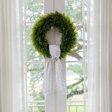 Dove Fabric Wreath Sash