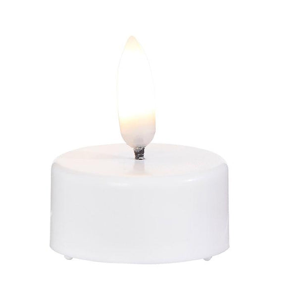 Flameless LED White Tea Light Candles (Set of 4)