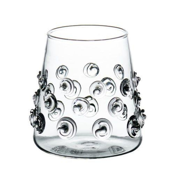 Votives with Glass Applied Swirls  (Set of 4)