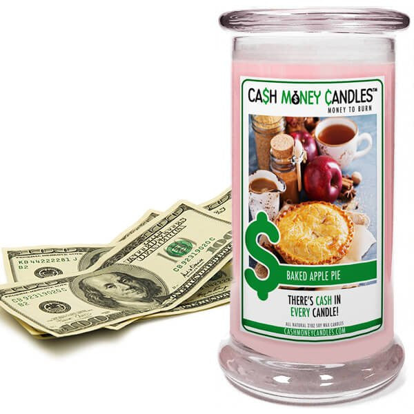 Baked Apple Pie Cash Money Soy Candle - Jewel Silk Scarves