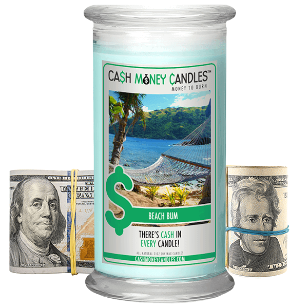 Beach Bum Cash Money Candle - Jewel Silk Scarves