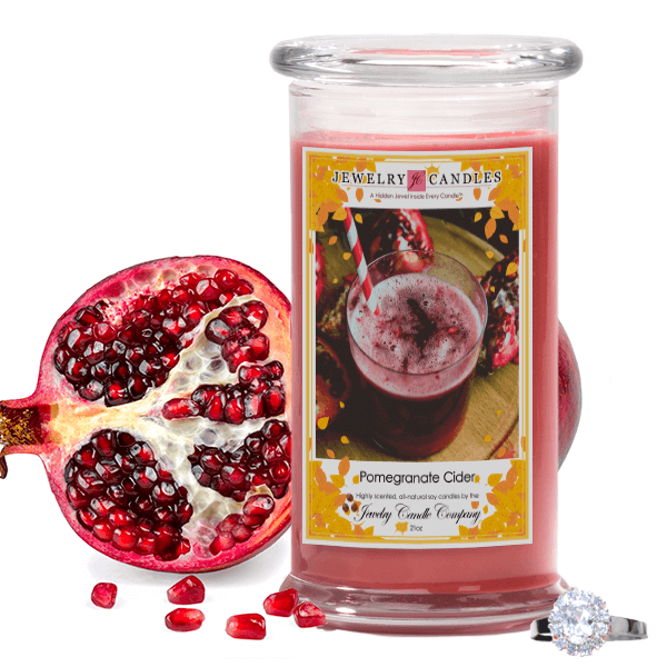 Pomegranate Cider Soy Jewelry Candle - Jewel Silk Scarves