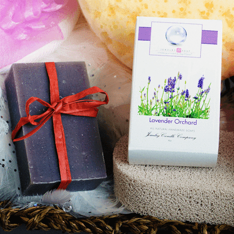 Lavender Orchard Natural Soap w/Jewelry - Jewel Silk Scarves