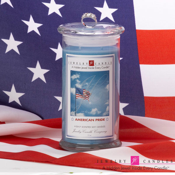 American Pride Soy Jewelry Candle - Jewel Silk Scarves