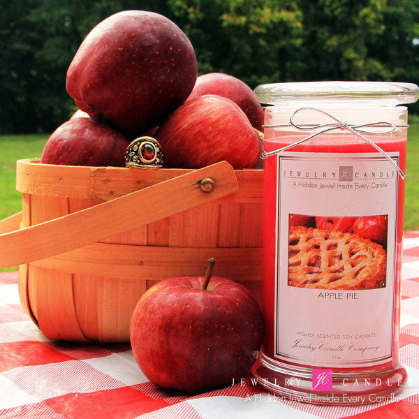 Baked Apple Pie Soy Jewelry Candle - Jewel Silk Scarves