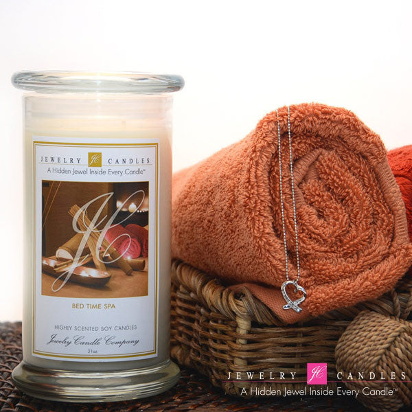Bed Time Spa Soy Jewelry Candle - Jewel Silk Scarves