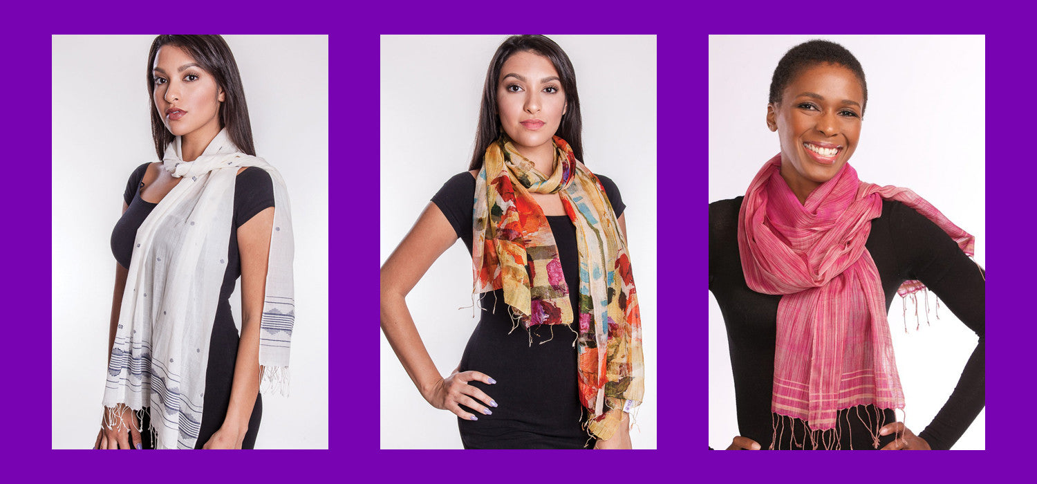Silk and Cotton Blend Scarves