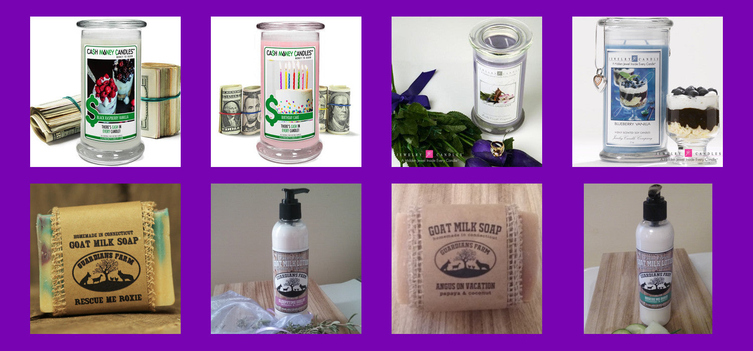 Natural Candles, Soaps and Lotions
