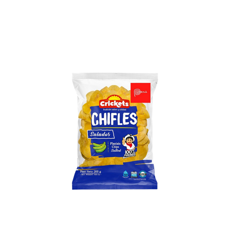Chifles, salty Peruvian plantain chips, 200gr