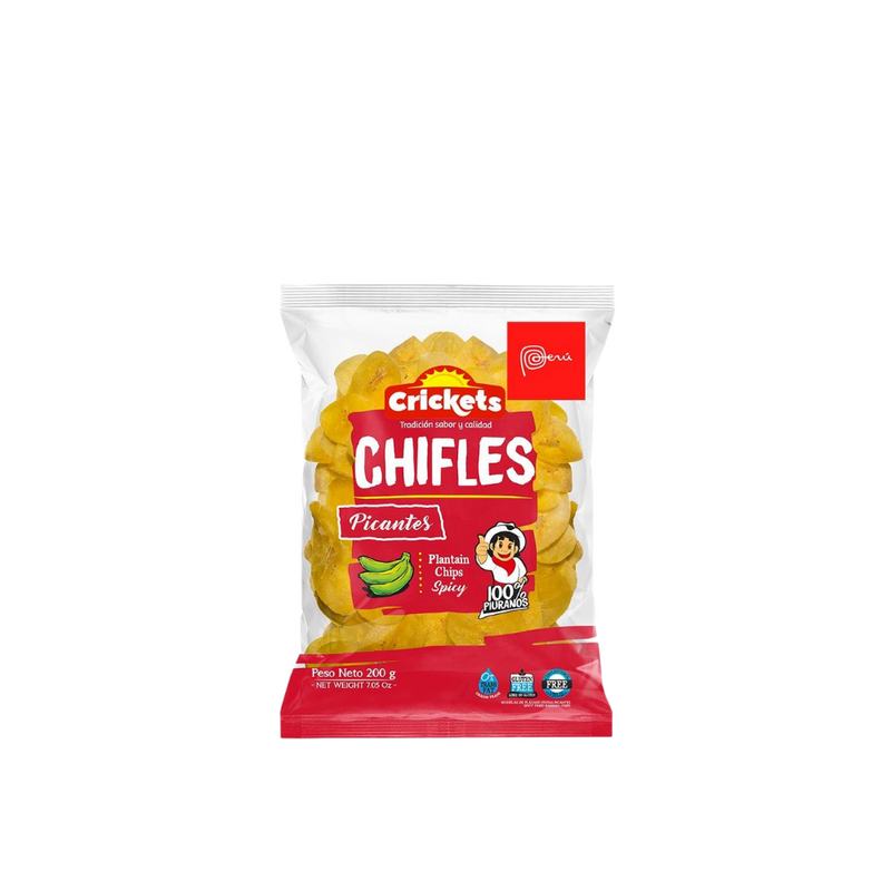 Spicy Chifles, salty Peruvian plantain chips, 200gr