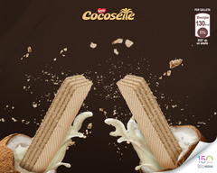 Cocosette 4-pack, coconut cream wafers (Individual packs of 50gr each)