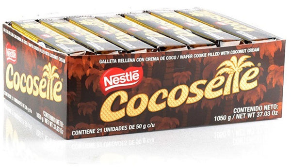 Cocosette, coconut cream wafers (Individual packs of 50gr each)