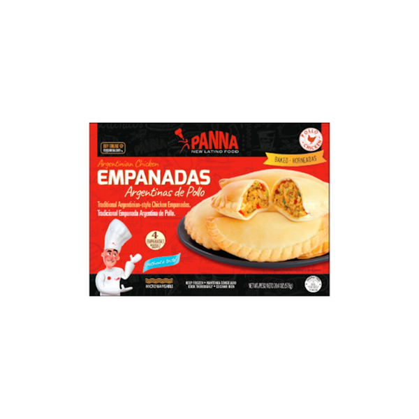 Chicken empanadas, ready-to-bake (4 full-size units)