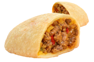 Venezuelan ground beef empanadas, pre-cooked, no frying required! 4 full size units,  431gr
