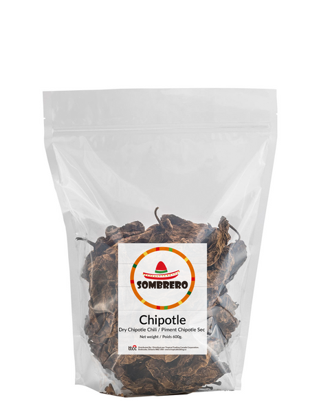 Dried Chipotle Chili Peppers by Sombrero. Delicious smoky flavour!