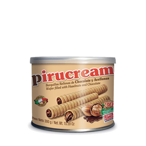 Pirucream 300gr - Rolled Wafers with Chocolate and Hazelnut