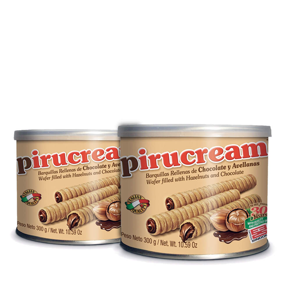 2-Pack Pirucream Chocolate and Hazelnut Wafer - 600gr (2x300gr)