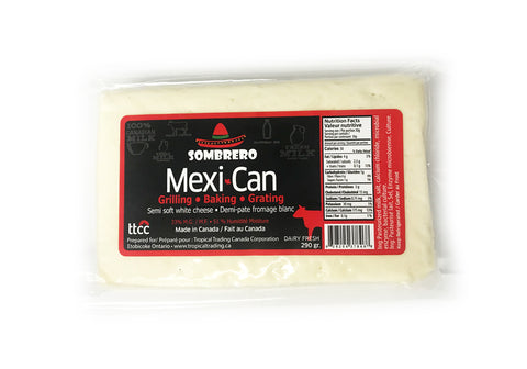 NEW! Mexi-Can Cheese, 290gr. Great for Grilling, Baking and Grating!