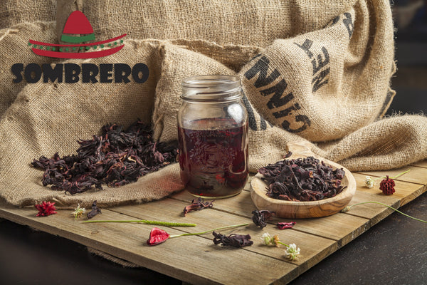 Dry Hibiscus Flowers by Sombrero, 145gr. Great for Tea and a Vegan Meat Substitute! Flor de Jamaica