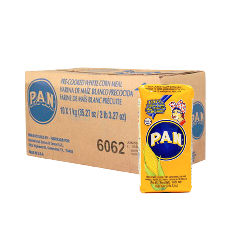 PAN Pre-cooked yellow corn meal - (1kg or 10x1kg)