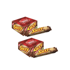 2 Susy: wafer cookie with chocolate filling (18 packs of 50gr each)