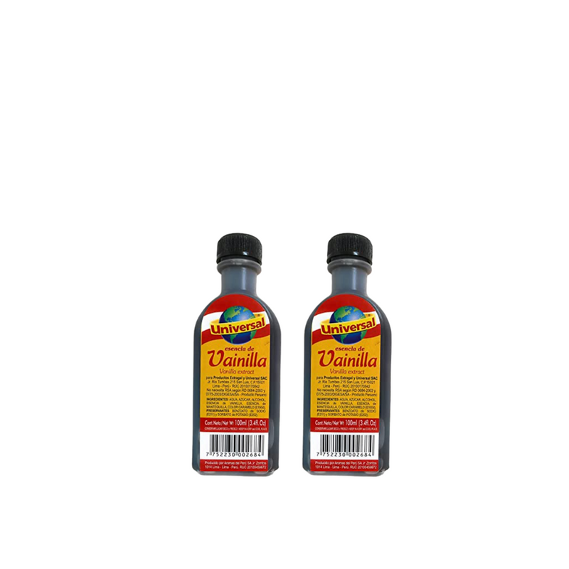 Vanilla Extract by Universal, 2x100ml