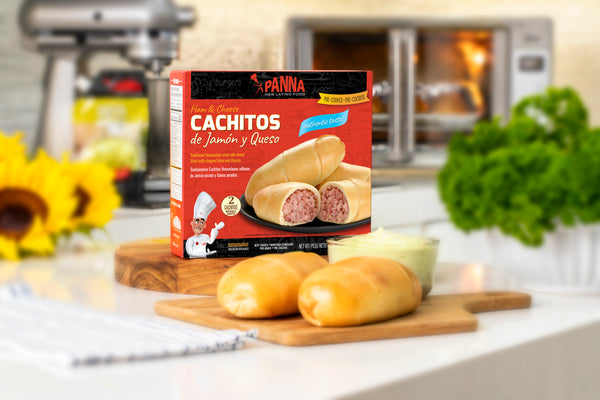 Ham and cheese cachitos, ready-to-bake (4 full-size units)