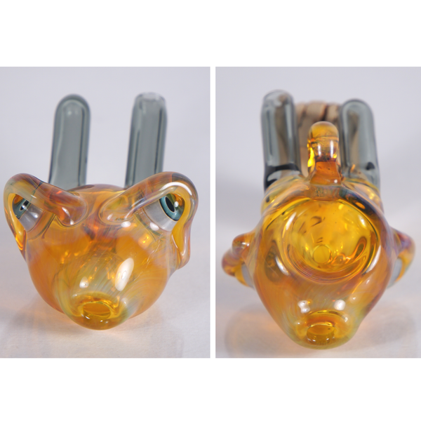 Bully Pit Glass NS Yellow Functional Spoon Pendant
