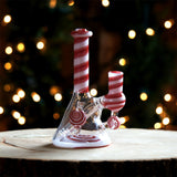 Pux Glass Peppermint Candy Dab Rig