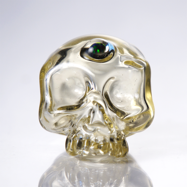 Sweeney Glass Third Eye Skull Pendant